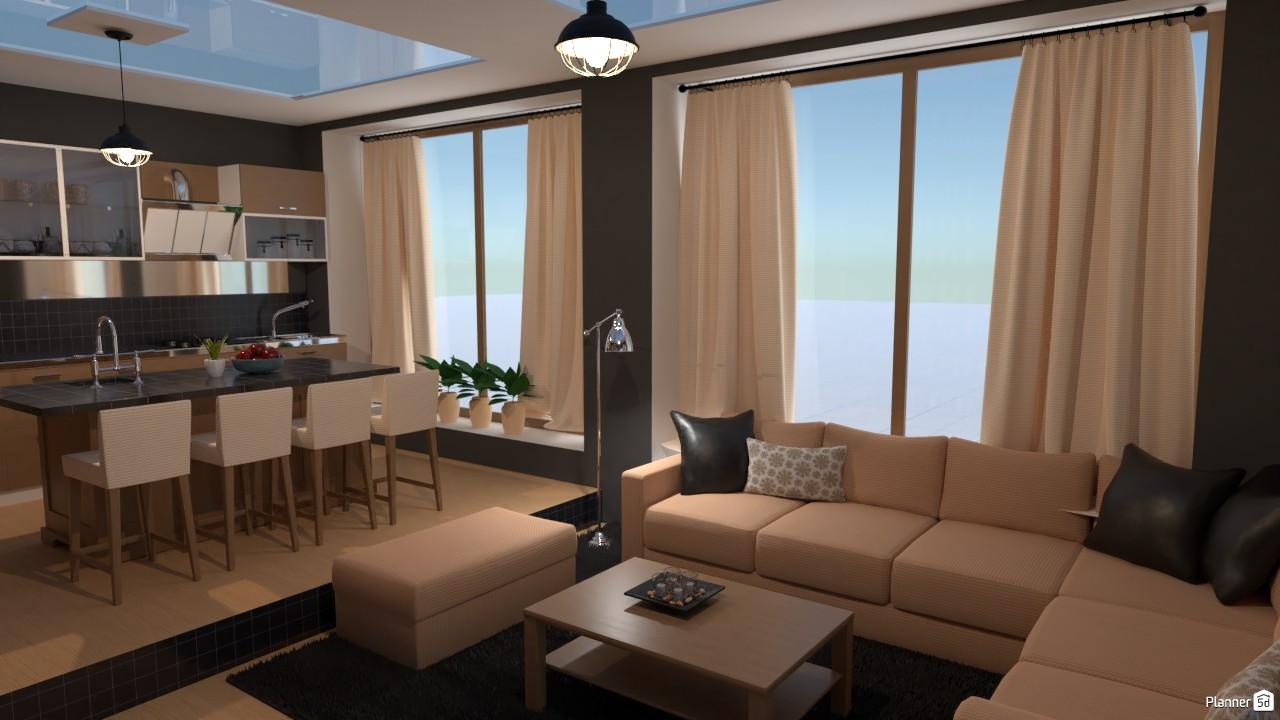 Sala y cocina. 3845352 by Hall Pat image