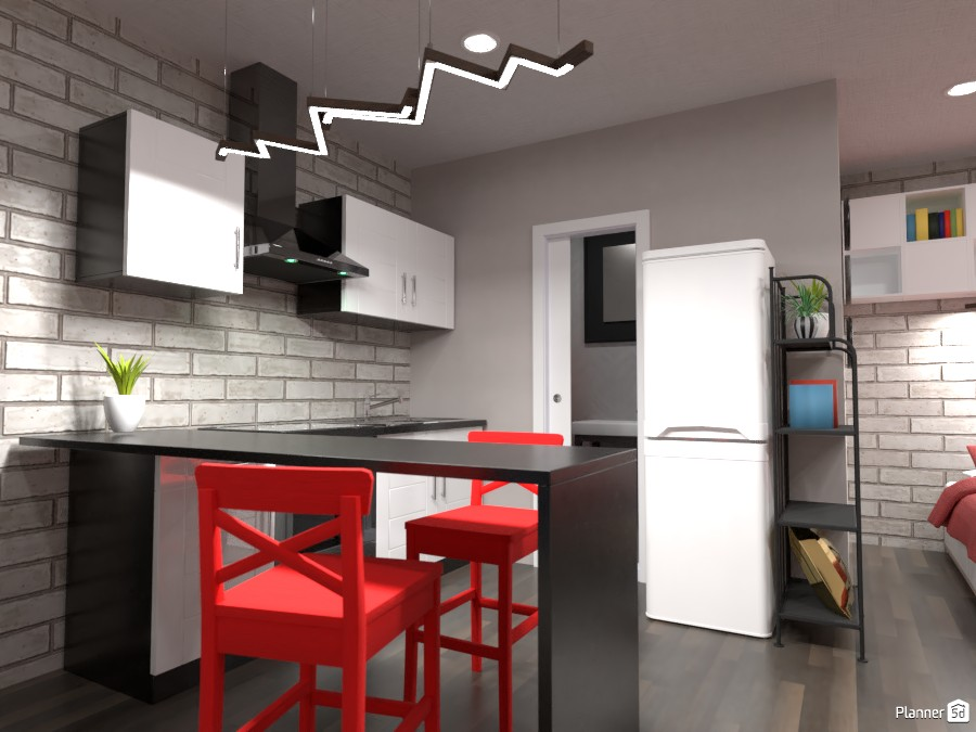 Small studio interior : kitchen 3926136 by Gabes image