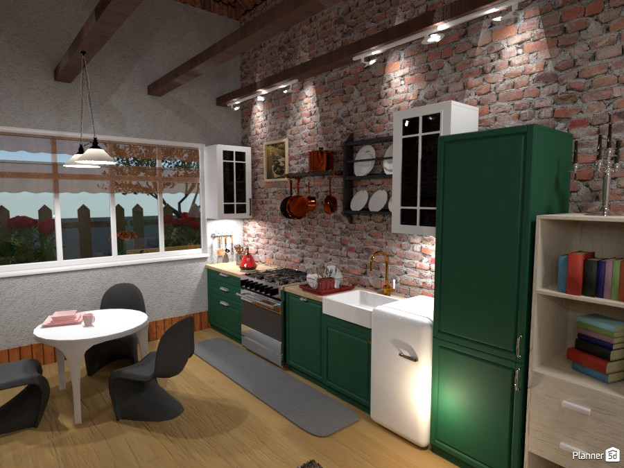 Off grid house kitchen area 4278310 by Born to be Wild image
