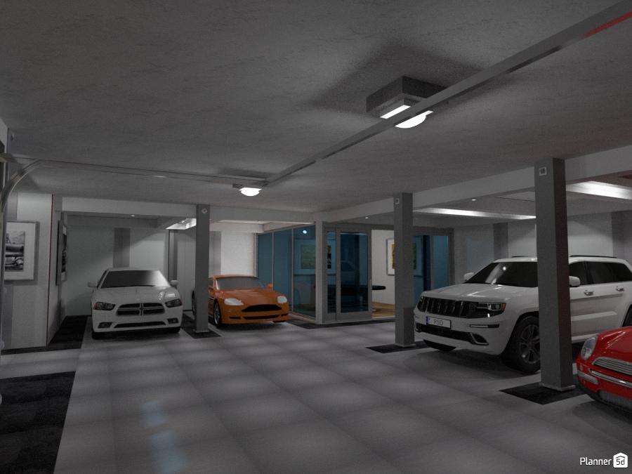 Basement Garage With Poker Room Free Online Design 3d