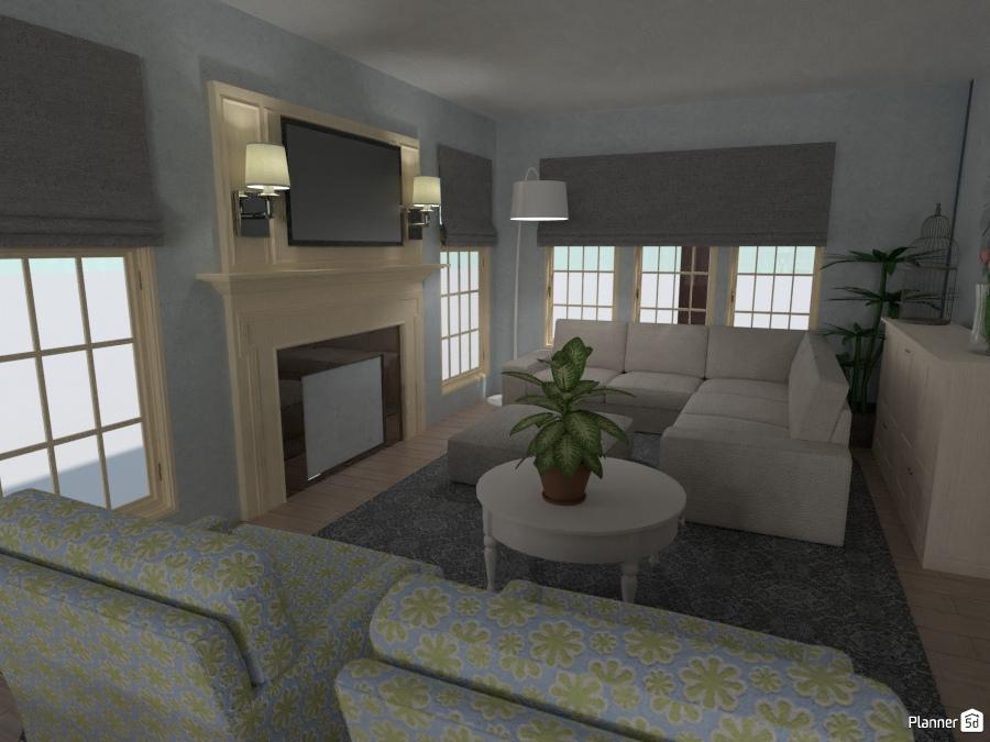 Family room living room ideas planner 5d for Room design 5d