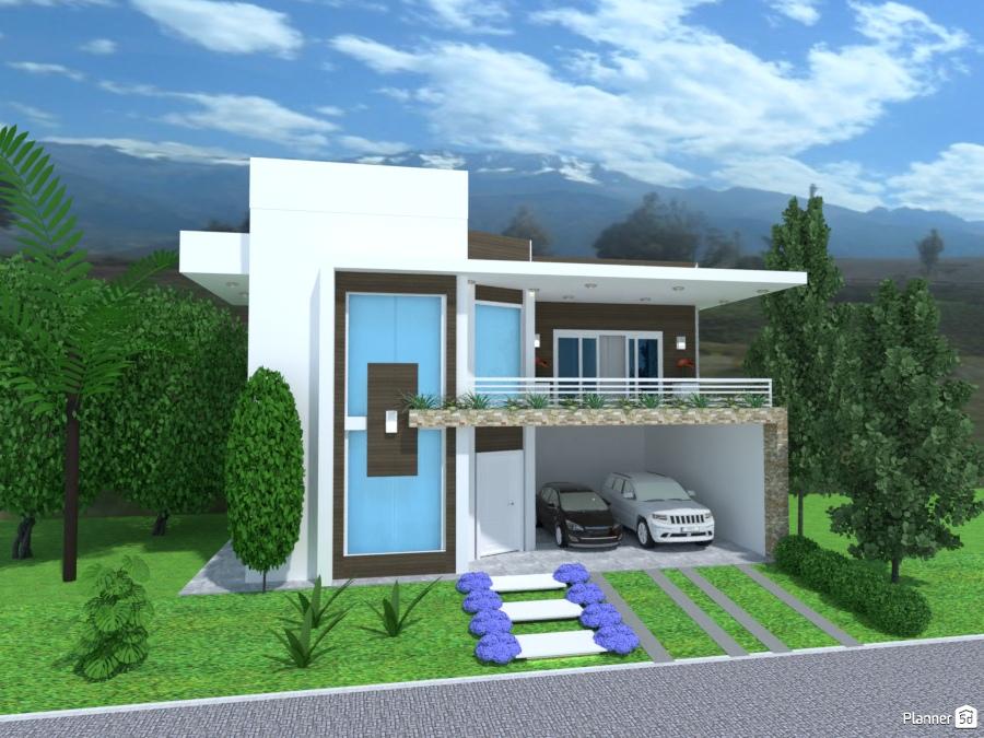 Architettura Case Moderne Idee.Casa Moderna Dos Plantas Idee Per Case Indipendenti Planner 5d
