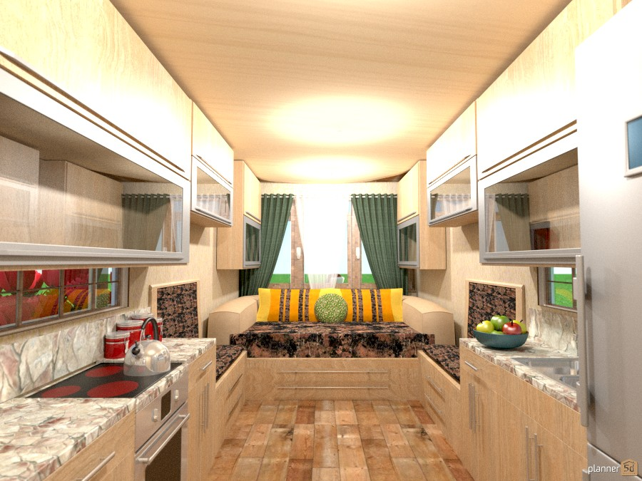 8 x 30 tiny house andor trailer Apartment ideas Planner 5D