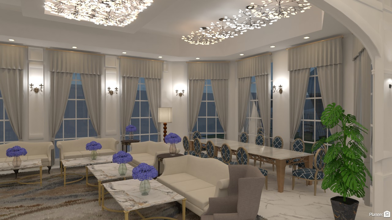 Luxury NeoClassic Living/dining room 3718175 by Mrs AKA image