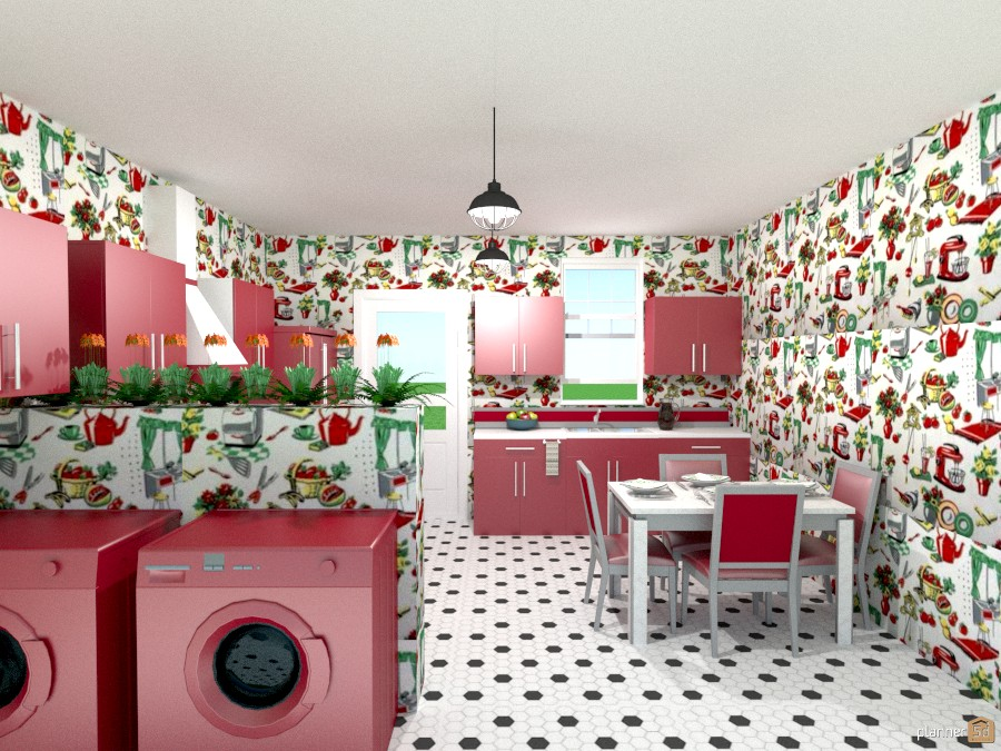 50's red kitchen 1001591 by Joy Suiter image