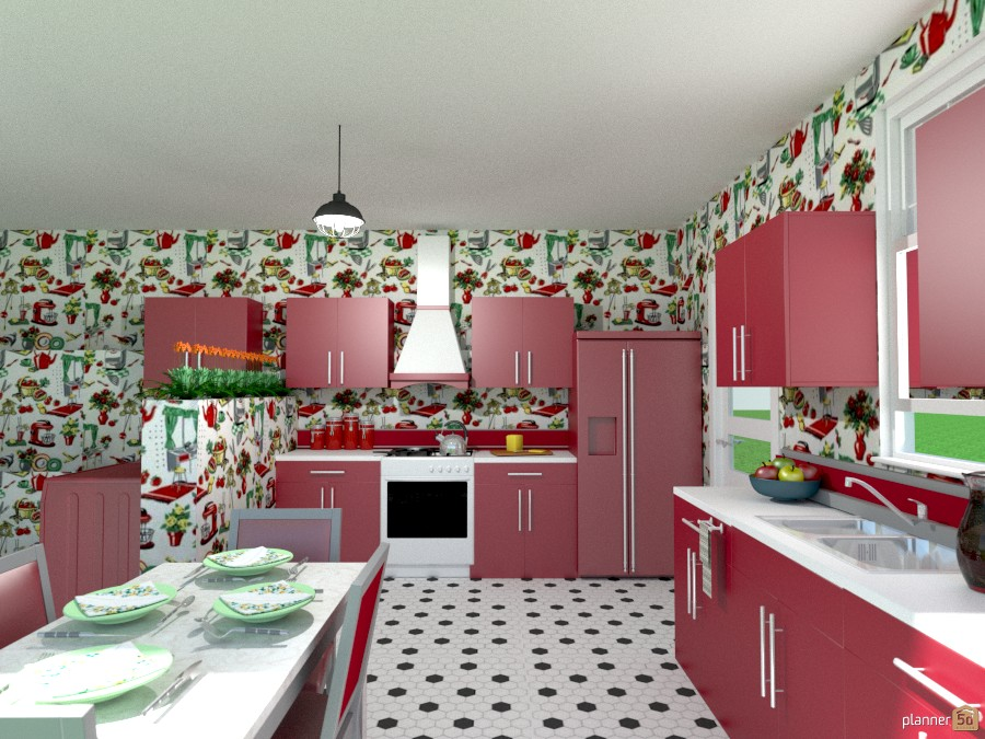 50's red kitchen 1002049 by Joy Suiter image