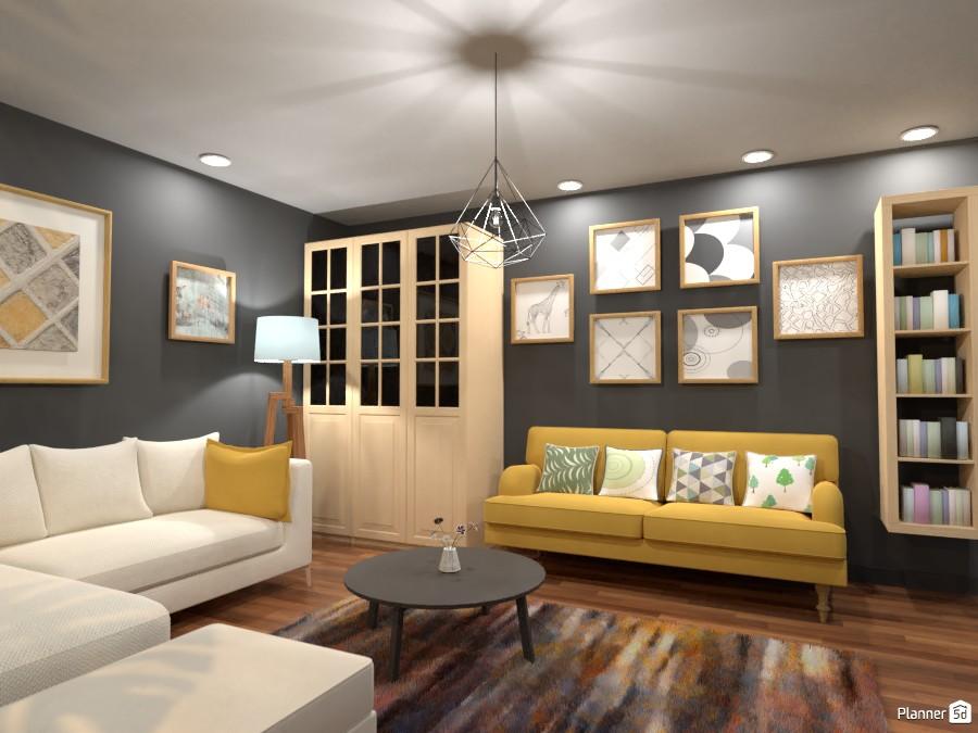 Scandinavian living room 2 3643196 by Rita Oláhné Szabó image