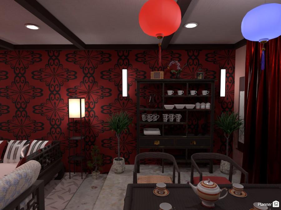 Гостиная-столовая в китайском стиле 4004850 by Ольга image