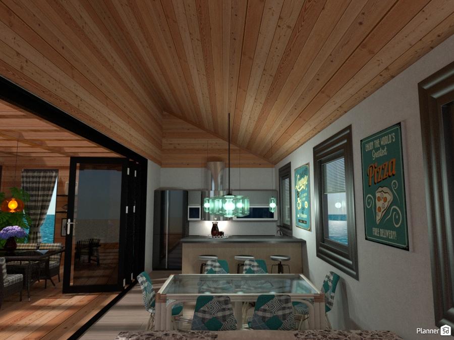 Casa al mare cucina e sala da pranzo idee per case indipendenti