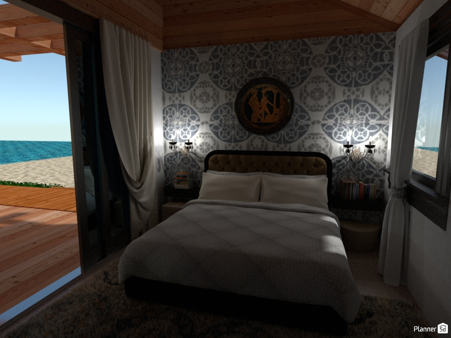 Casa al Mare: Camera da Letto - House ideas - Planner 5D
