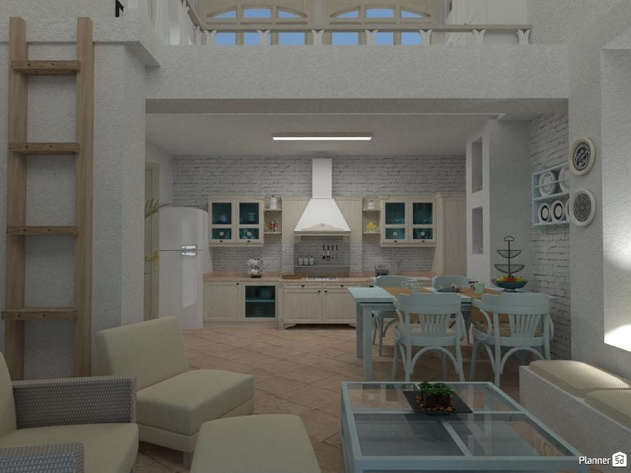Casa Rustica: Pianterreno - Ideas para casas - Planner 5D