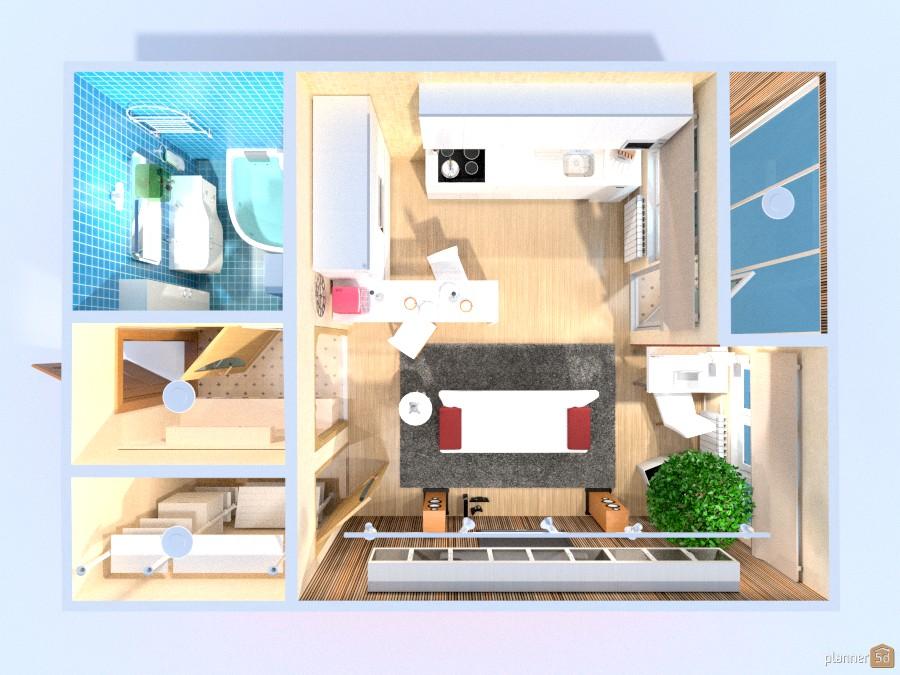 Квартира студия для молодой девушки 817027 by Elena image