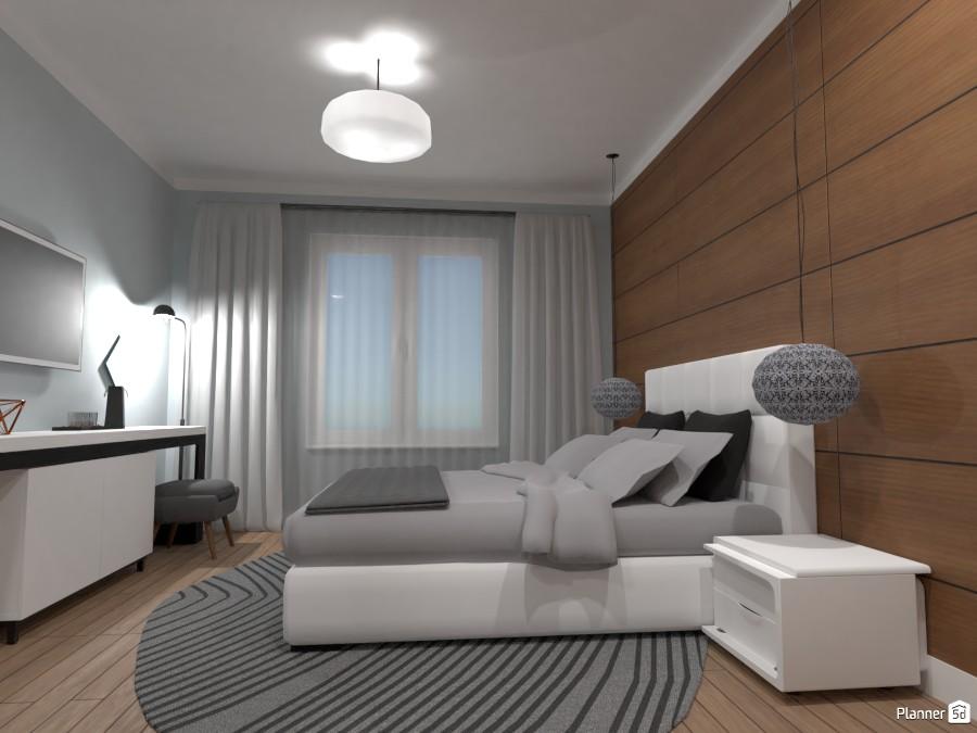 Спальня в скандинавском стиле с элементами неоклассики 3087257 by Kirill Vlasenkov image