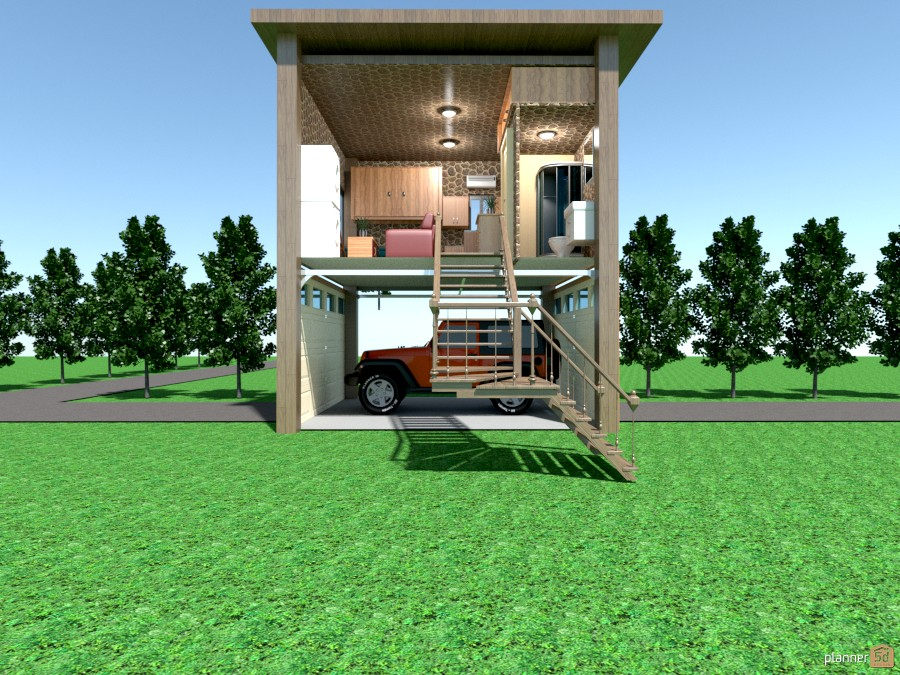 269 sq ft tiny house on stiltes   apartamento ideas   planner 5d