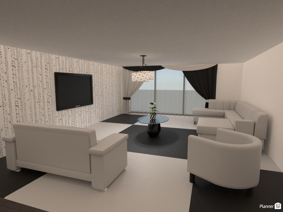 Black and White Living Room 3918908 by boo :) image