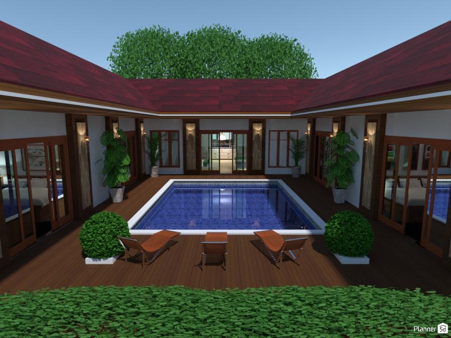 Casa Con Piscina Ideas Para Casas Planner 5d