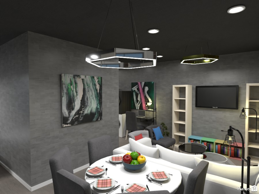 Apartment, Dining room and living room. 3616487 by Doggy image
