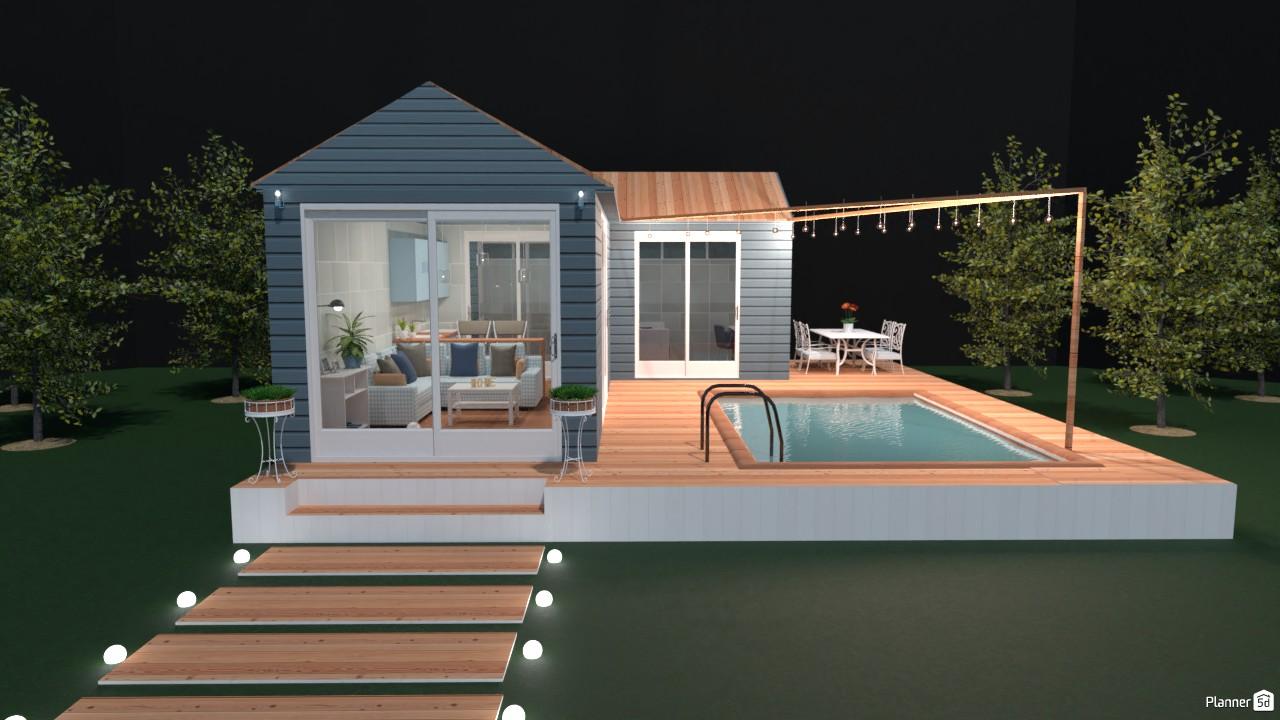 Casa en azul y blanco. (1er. ángulo) 4265111 by Hall Pat image