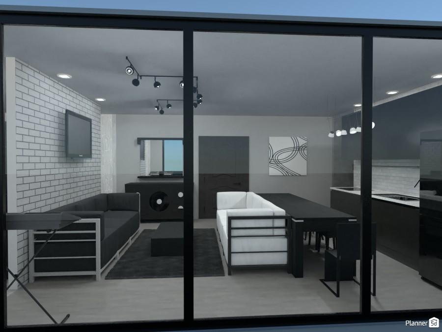 Modern living room and kitchen 3768565 by Rita Oláhné Szabó image