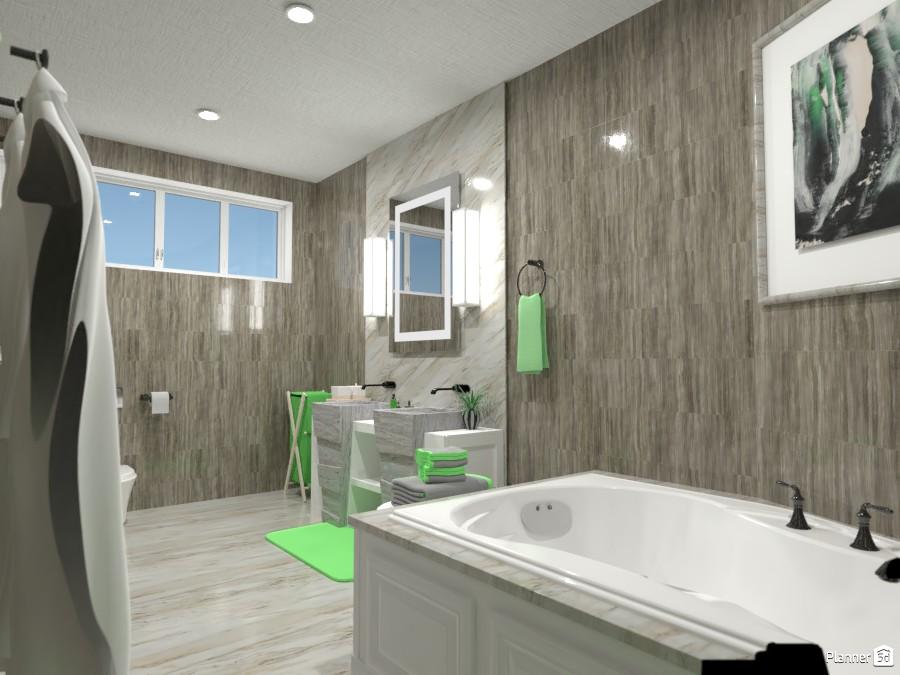 Green bathroom render 1 4056085 by Owen image