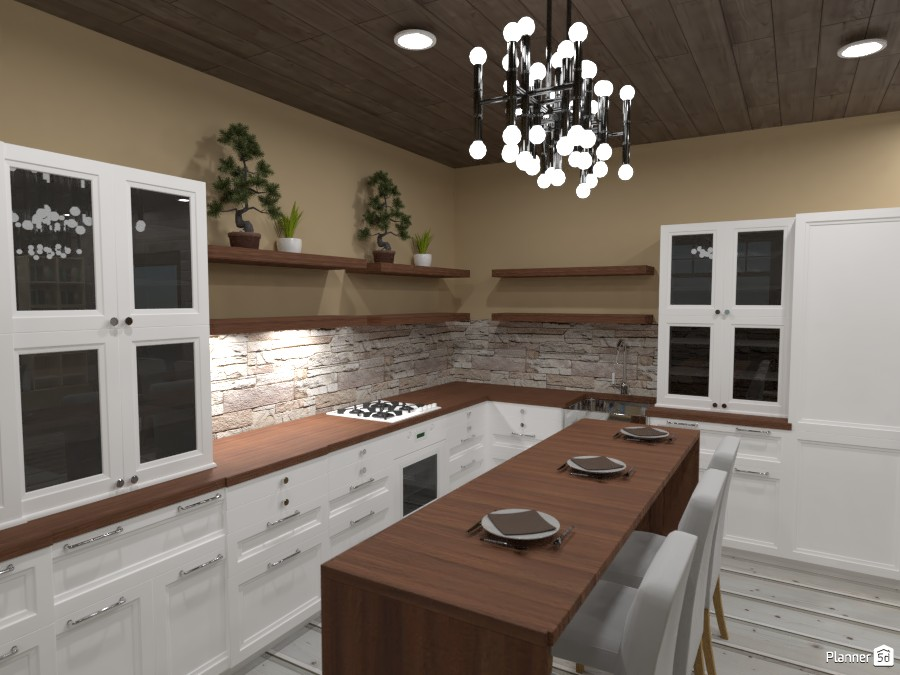 Kitchen and living room in the old town 3712158 by Nikolas image