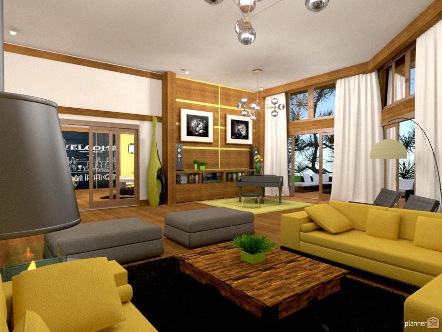 casa in giallo 61162 by Svetlana Baitchourina image