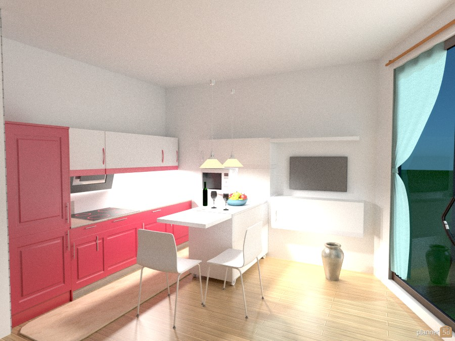 With Kitchen Island Free Online Design 3d House Ideas Marie Matysova By Planner 5d