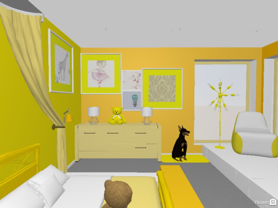 Grey And Yellow Interior 84087 by AlphaFemale_of_Demonds/Evil image