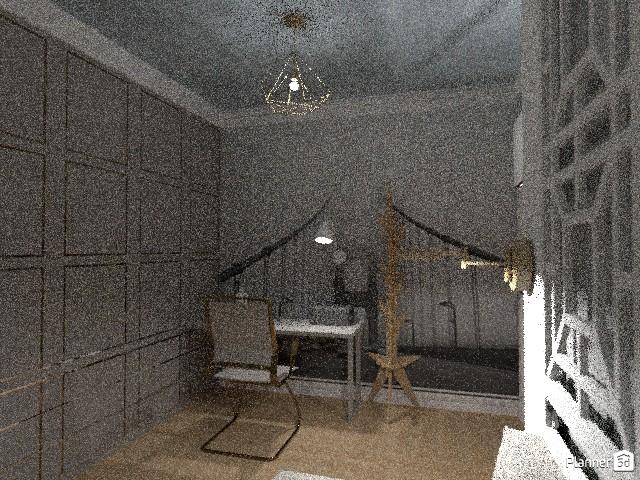 спальня-гостиная+творческая мастерская-кабинет на 14м2 70245 by Алиса в Зазеркалье image