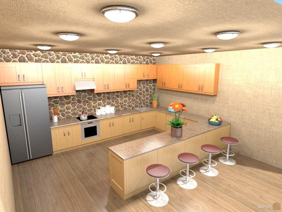 kitchen with rock backsplash 803677 by Joy Suiter image