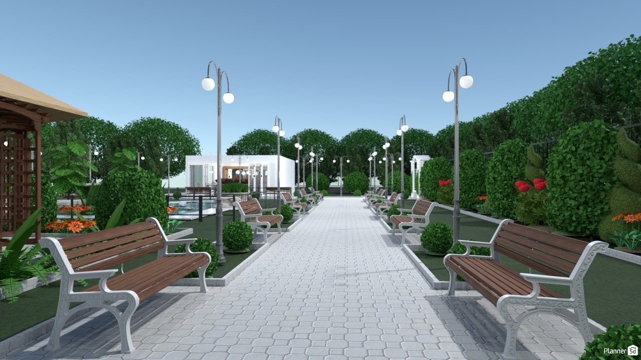 City park with recreational area 2995982 by Evelinaa image