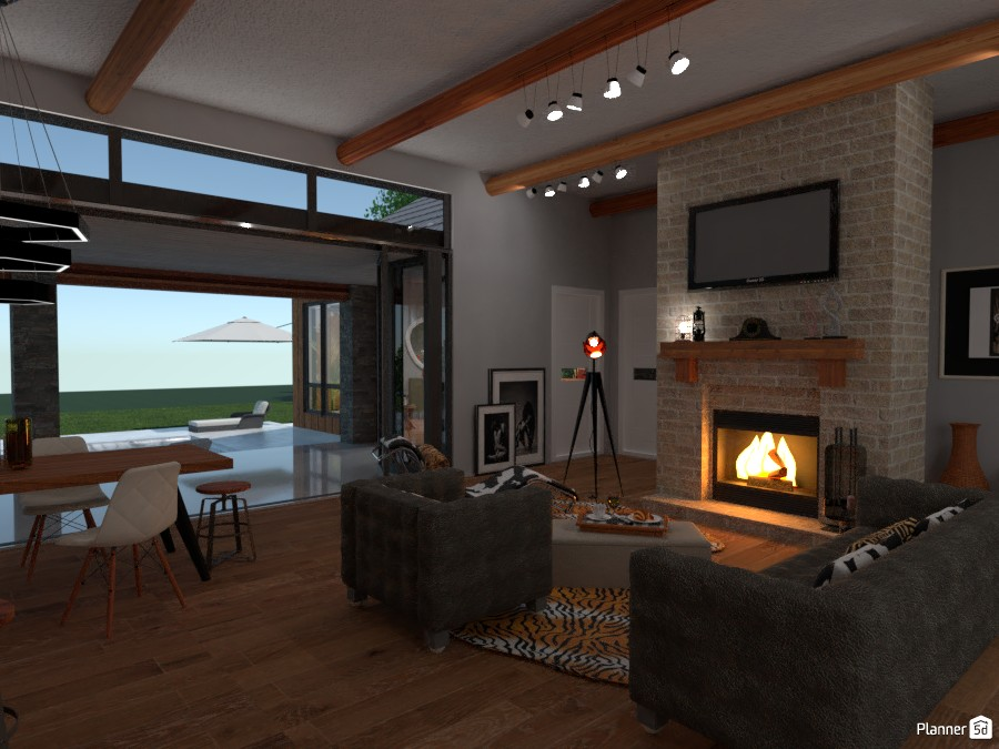 Cozy House: Fireplace area 2999330 by Moonface image