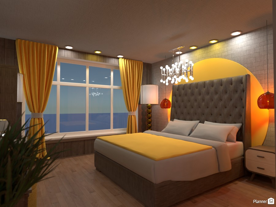 Contest design, White and Gold bedroom Render:  Bedroom 1 3629680 by Designer (doggy) image