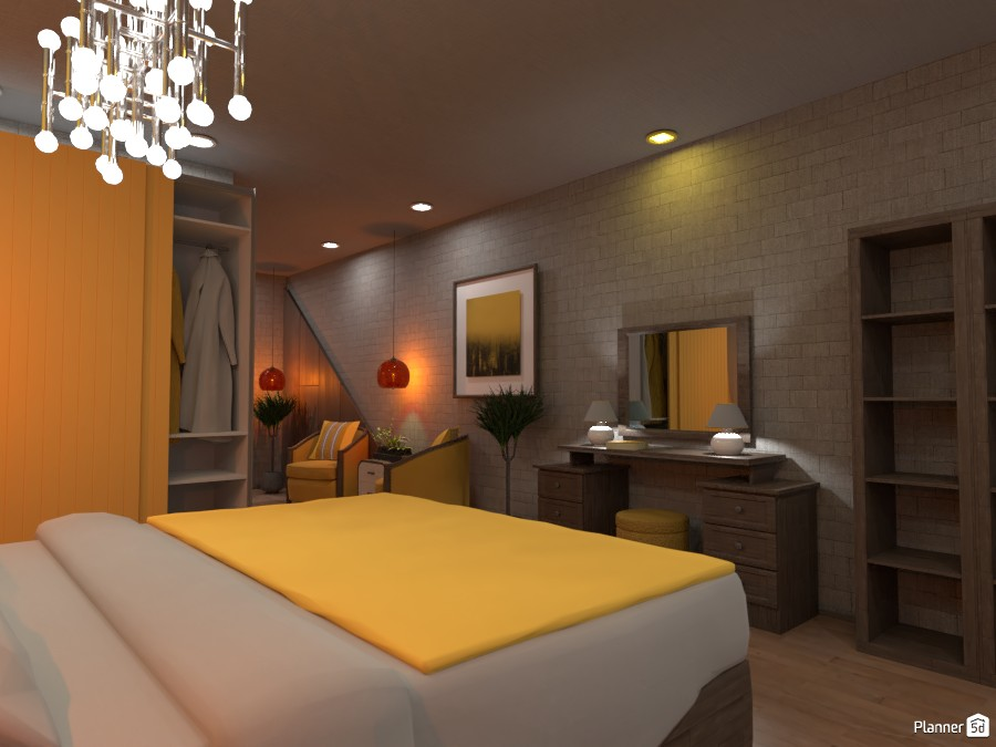Contest design, White and Gold bedroom Render:  Bedroom 2 3629681 by Doggy (please vote) image