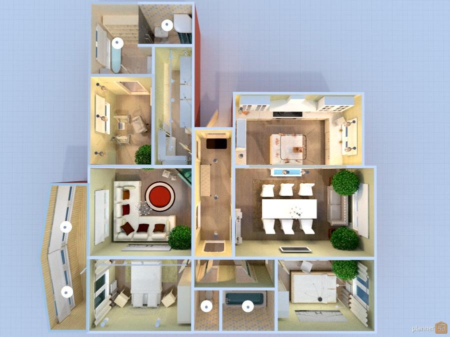 Соединение 2-х квартир (2 и 3-х км.) в панельной девятиэтажке улучшенного типа 740292 by Elena image