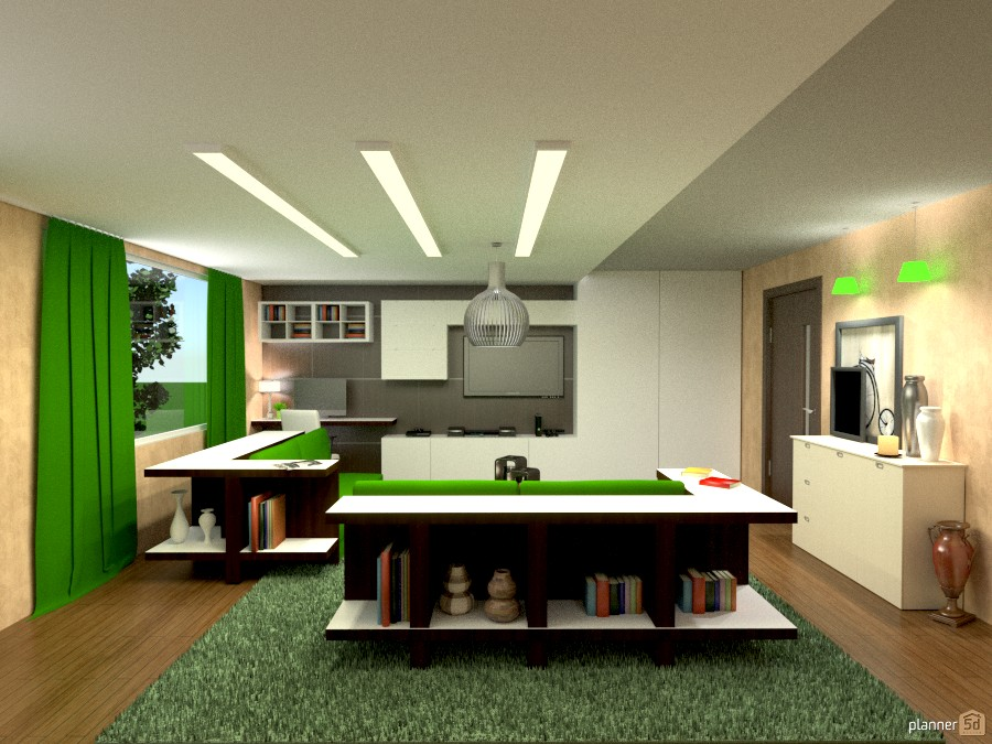 Green Living room. 855452 by Michelle Silva image