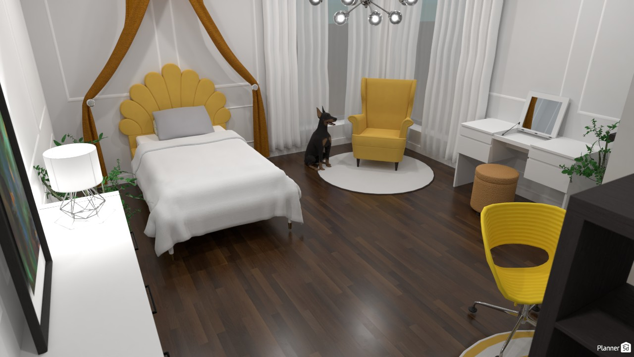 Yellow and Grey Bedroom 3865523 by Bunny image