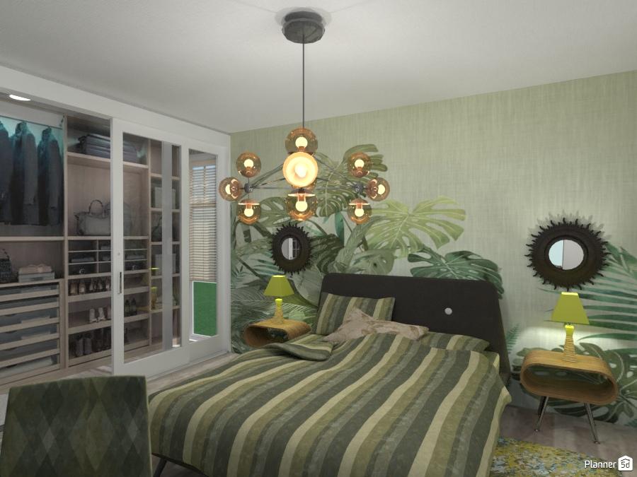Progetto SImona: Camera Verde - Bedroom ideas - Planner 5D