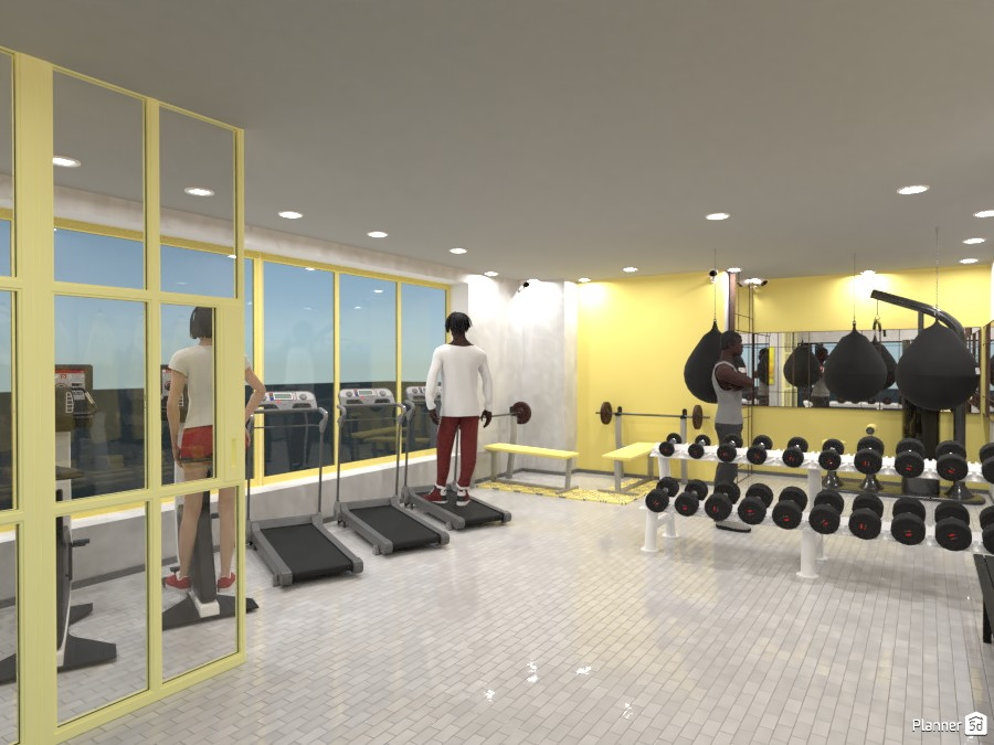 Yellow and Gray Gym 3727415 by Designer (doggy) image