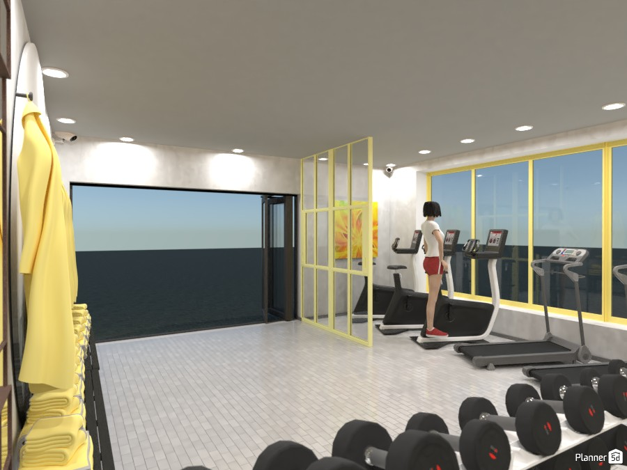 Yellow and Gray Gym 3727418 by Designer (doggy) image