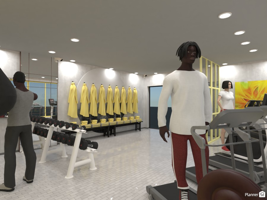 Yellow and Gray Gym 3727421 by Designer (doggy) image