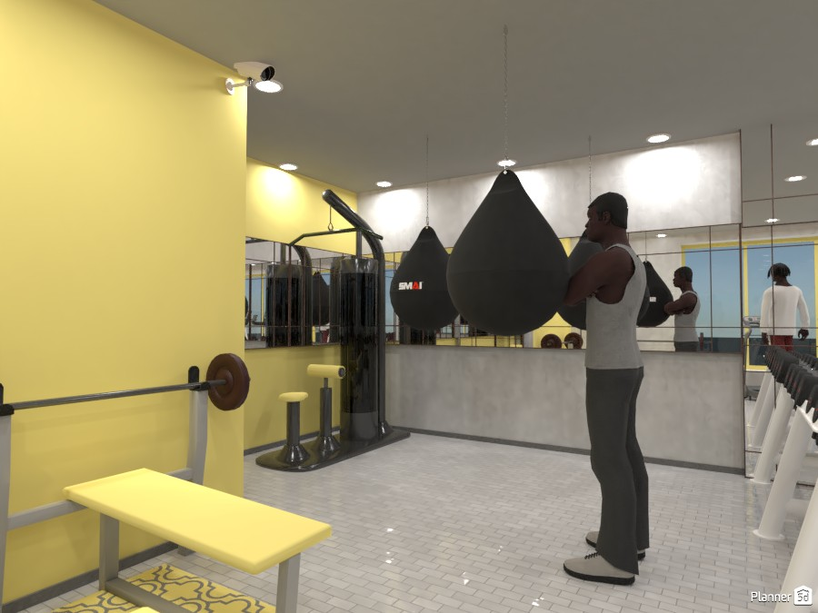 Yellow and Gray gym 83218 by Designer (doggy) image