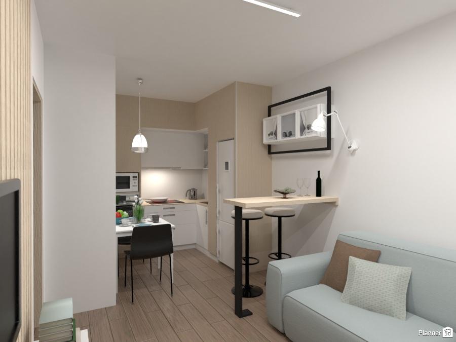 дизайн кухни студии в скандинавском стиле идеи дизайна квартир
