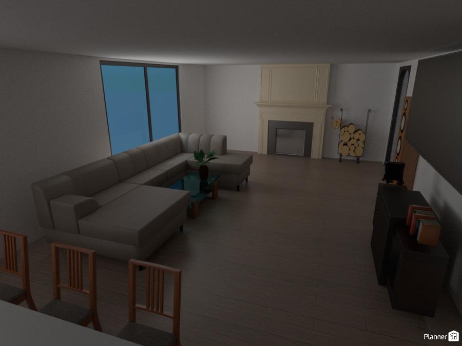 Living room apartamento ideas planner 5d for Sala de estar oficina