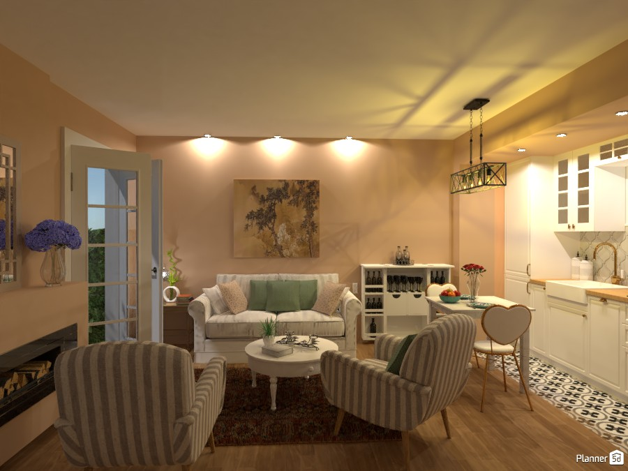 Garage = Apartment II / Living room with kitchen 4021995 by Lucija Marko image