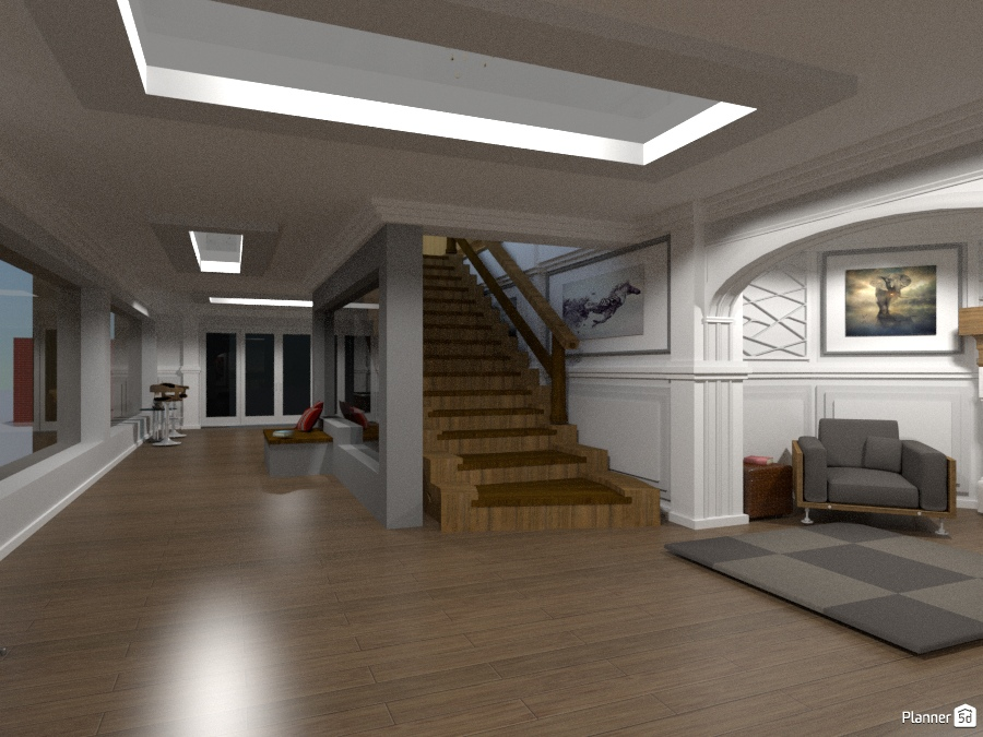 basement hallway - house ideas - planner 5d