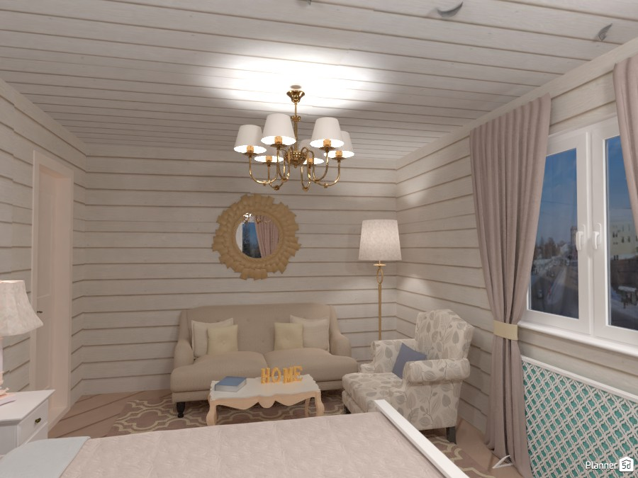 Спальня в деревянном доме 3025122 by Elena Strenova image