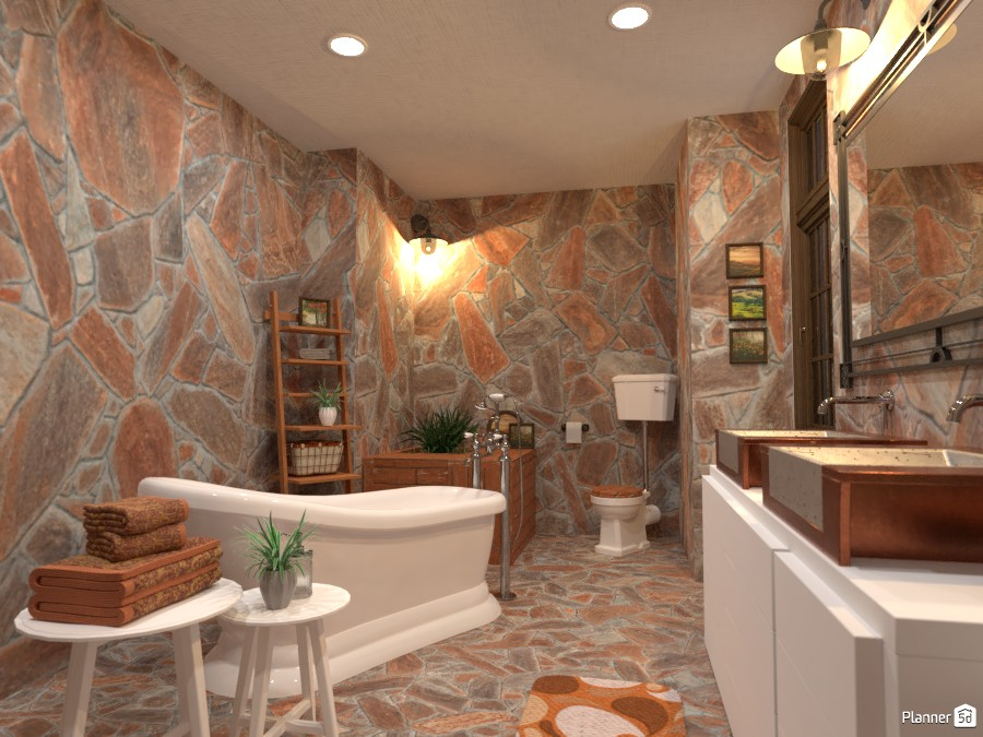 Country interior style: bathroom 3900258 by Gabes image