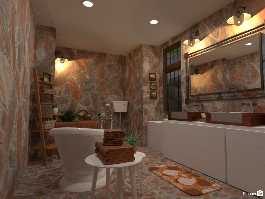 Country interior style: bathroom 3900285 by Gabes image
