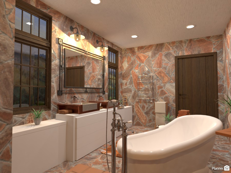 Country interior style: bathroom 3900317 by Gabes image